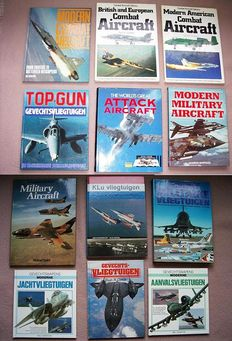 Fighter planes; Lot with 12 books on fighter aircraft - 1980/1991