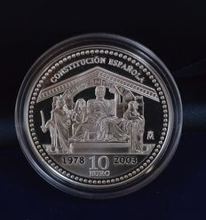 "Spain - 10 euro 2003 ""25th Anniversary of the Spanish Constitution"" - silver"