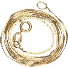 Yellow gold S-link necklace