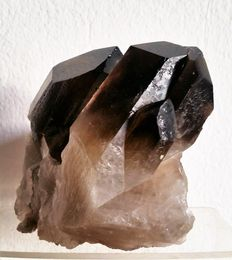 Large smoky quartz crystals - 130 x 90 x 100 mm - 1.048 Kg