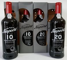 Niepoort Aged Tawny Port: 10 years old x2 & 20 years old x2 - 4 bottles