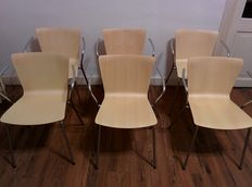 Vico Magistretti for Fritz Hansen – VICO DUO Design chairs, set of 6