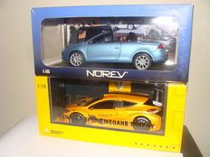 "Solido / Norev - Scale 1/18 - Renault Sport Mehane Trophy exclusivity Renault"" and Volkswagen Eos"