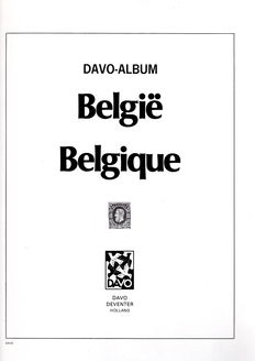Belgium 1849/1999 – collection in four Davo albums