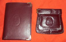 Cartier – Wallet and small coin purse – vintage