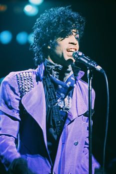 Prince, two unseen colour photographs, live 1983 and 1985, L.A.