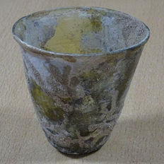 Roman glass funnel-shaped drinking cup - 85 mm