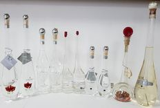 Grappa Collection - 10 beautiful bottles with an exceptional grappa, the most famous distillate in Italy - 4X40%vol + 6X38%vol - 5x20cl + 2x35cl + 2x50cl + 1x70cl