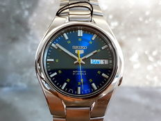 Seiko 5 Automatic Modern Pearlescent Blue Face – 2017 – Never worn, like new