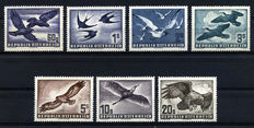 Austria 1950/1953 - The Famous Birds Set Complete