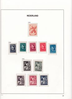 the Netherlands 1945/1992 - collection in 3 Davo albums + batch of blocks and sheet parts