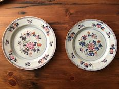 Plates Famille Rose - China - 18th Century