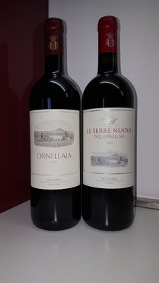 Lot of 2 bottles, 75 cl each: 2013 Ornellaia & 2014 Le Serre Nuove dell' Ornellaia.