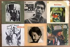 Bob Dylan: lot of six lp's John Wesley Harding/ The times they are a-changin' / Subterranean homesick blues/ Planet waves/ New morning/ Desire