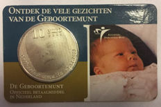 "The Netherlands - 10 Euros 2004,  ""Birth coin"" in coin card."