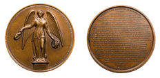 "France – 19th century – ""Algeria/Defense of Mazagran 1840"" medal by Caqué – Copper"