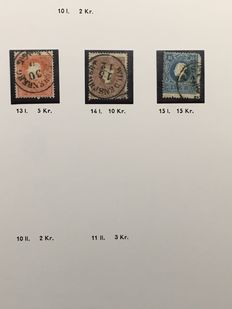 Austria 1850-/1937 - Collection in 2 albums, plus batch in stockbook and many pages