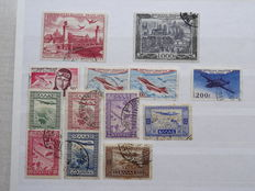 Airmail theme - collection with airmail issues from European countries