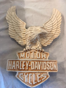 Beautiful plaster Harley Davidson logo in relief