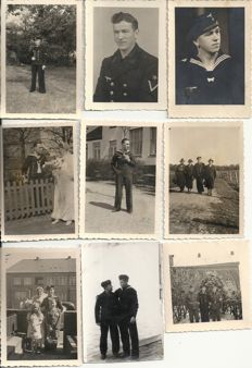 Third Reich; Lot of 29 x original photos petty officers and sailors, German Kriegsmarine WW2
