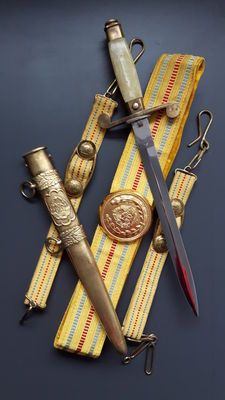 Officer Dagger - Romanian Communist Army officer's dagger - Ceausescu 1950 (very small and extremely rare, serial no. 4263)