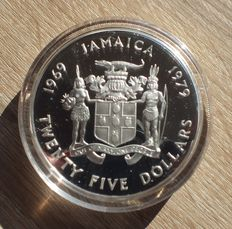 Jamaica – 25 Dollars 1979 '10th Anniversary of investiture of Prince Charles' – silver