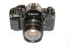 Canon A-1 met 50mm 1.8,  in mint condition