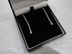 18k gold Diamond Drop Earrings - 0.70ct  I, SI1
