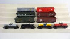 "Märklin H0 - 45644 - Set of 10 American ""Tin Plate"" Freight Cars"