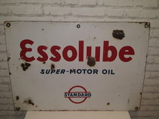 Essolube Super Motor Oil - Standard - 1935 - Double sided sign - 70 x 49 cm