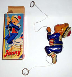 Lehmann, Western Germany - Length 18 cm - Tin climbing sailor Jonny no. 914, 1960s