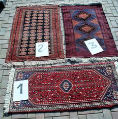 Lot for 3 hand-knotted Persian rugs See separate discriptions