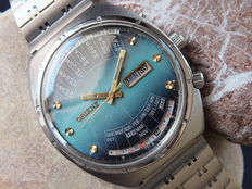 ORIENT Blue Perpetual Calendar - Men's Multiyear Automatic Watch - Vintage Era 1970s