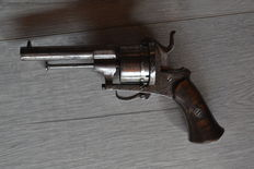 Large pin fire revolver