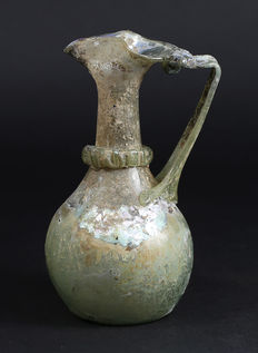 Roman glass Jug - 142 mm high