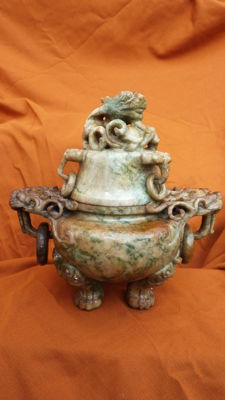 Beautiful censer in hard stone - China - start of 20th century