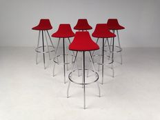 "Satelliet - set of 6 bar stools, model ""Spider""."