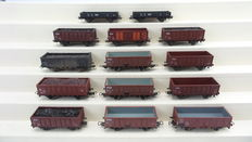 Roco/Piko H0 - 4311B/4311C/4303B/5-121-091 – 14-piece high-/low side carriages partly loaded with coals & ore of the NS