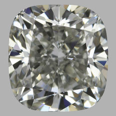 0.90 ct Cushion Diamond JVS2 GIA-Original Image -10X-#1634