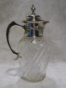 Pitcher crystal and  solid silver  800 Koch § Bergfeld circa 1884.