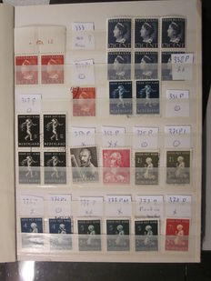 The Netherlands 1939/1953 - Collection of plate flaws