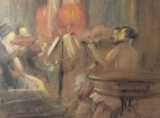 Ghislaine de Riquet de Caraman Chimay (1865-1955) - a concert in the Royal palace in Laeken