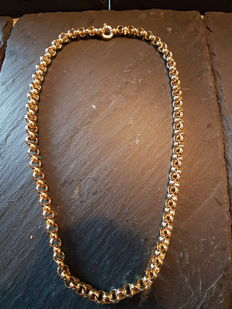 18kt Yellow Gold Cable Chain (Men's) - 58,5cm