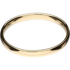 Yellow gold bangle of 14 kt