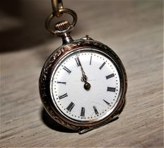 DAD - Pocket watch model Ladies with fob copper
