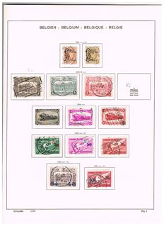 Belgium 1882/1971 - Collection of railway stamps