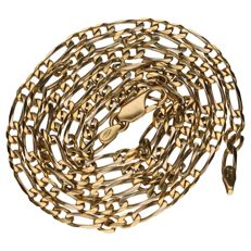 18 kt yellow gold Figaro link necklace – 61 cm