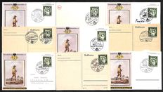German Empire/Reich - 1941 - 1942 - collection with over 100 letters, garden and postal stationery for the day of the stamps