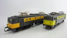 Jouef - 2 Multifunctional electric locomotives Series 1300 of the NS
