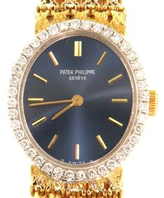 Patek Philippe Golden Elipse with diamonds - Wristwatch - (our internal #6661)